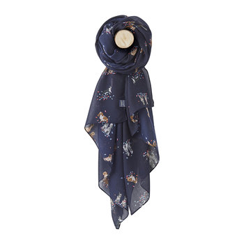 Wensley Scarf - Dogs in Leaves