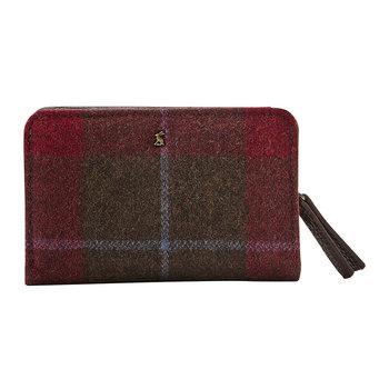 Wyton Tweed Wallet - Red Check