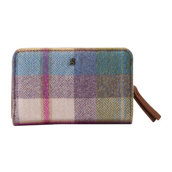 Wyton Tweed Wallet - Pastel Check