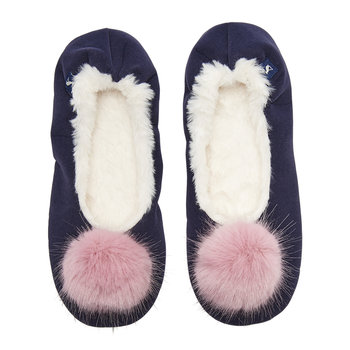 French Navy Slippom Ballet Slippers