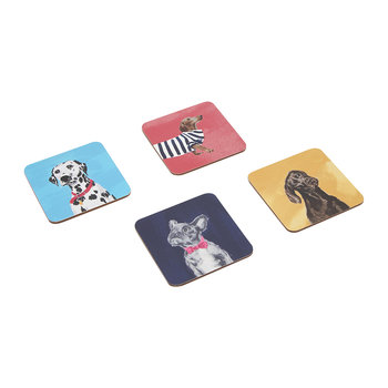 Pawcasso Cuprest Coasters - Set of 4