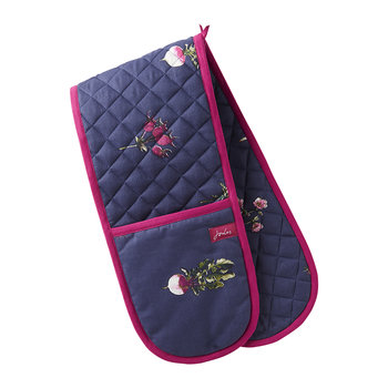 Dorrit Oven Gloves - French Navy Botanical Veg