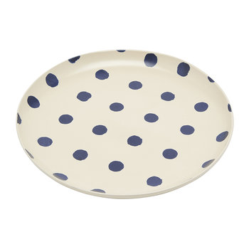 Galley Grade Dinner Plate - French Navy Spot