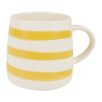 Galley Grade Stoneware Mug - Gold Stripe
