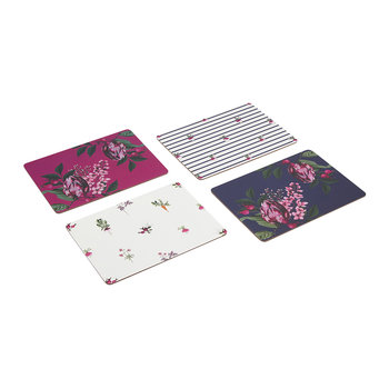 Artichoke Floral Placemats - Set of 4