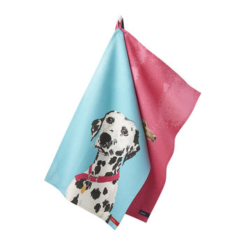 Thea Tea Towels - Set of 2 - Breton Dachshund
