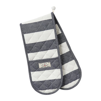 Galley Grade Oven Gloves - French Navy Stripe