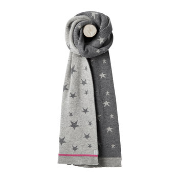 Saffy Intarsia Scarf - Gray Star