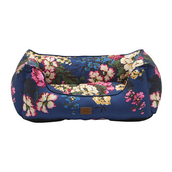 Percher Pet Bed - Navy Cambridge Floral