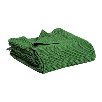 Maia Stonewashed Throw - Fir Green