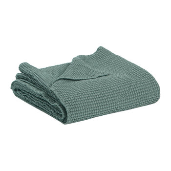 Maia Stonewashed Throw - Green-Grey