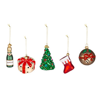 Little Christmas Amara Tree Decoration - Set of 5