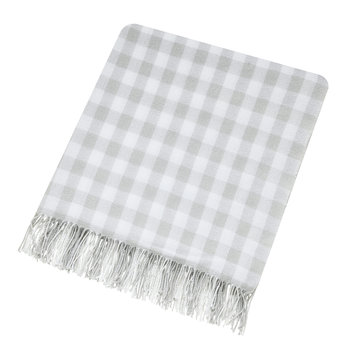 Anthea Woven Throw - Grey