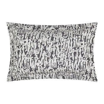 People Oxford Pillowcase - Charcoal