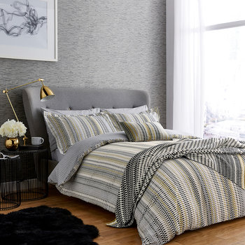 Array Duvet Set - Charcoal