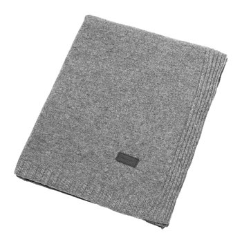 Light Cable Knit Throw - 130x180cm - Grey