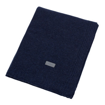 Light Cable Knit Throw - 130x180cm - Yankee Blue