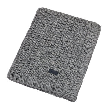 Moss Knit Throw - 130x180cm - Gray