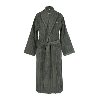 Line Bathrobe - Anthracite