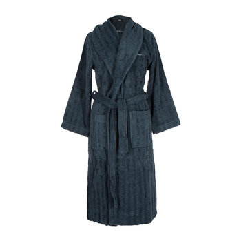 Line Bathrobe - Sateen Blue
