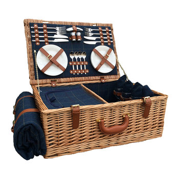 Blue Tweed Hamper - 4 Person