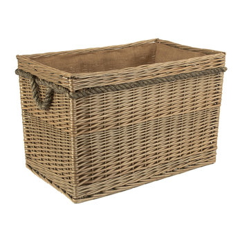 Rectangular Rope Handled Log Basket