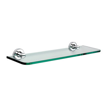 Chrome Glass Shelf - 50cm