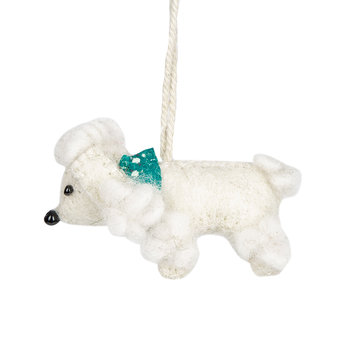 Felt Poodle Tree Decoration