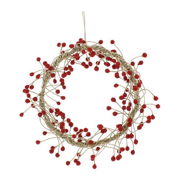 Red Berries and Jute Wreath