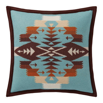 Tucson Feltbound Reversible Cushion - Aqua