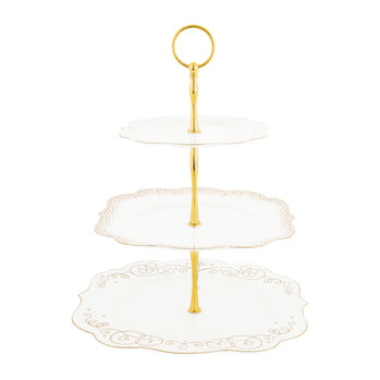 Royal Christmas 3 Tier Cake Stand