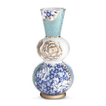 Floral Royal Round Vase - Blue