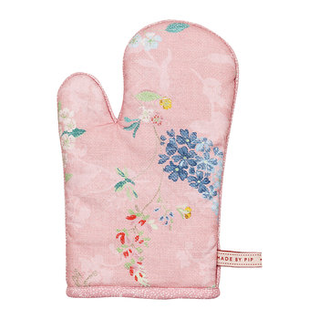 Hummingbirds Oven Mitt - Pink