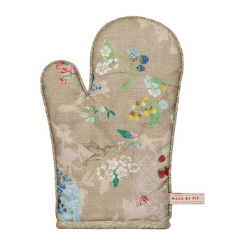 Hummingbirds Oven Glove - Khaki