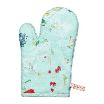 Hummingbirds Oven Glove - Blue
