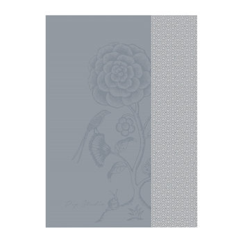 Spring to Life Lacy Tea Towel - Blue
