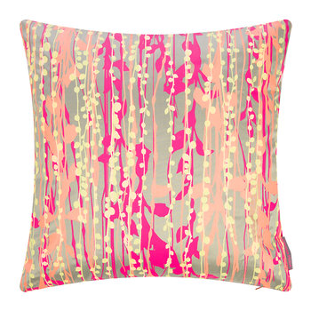 St Lucia Cushion - 45x45cm - Pebble/Pink/Coral/Lemon