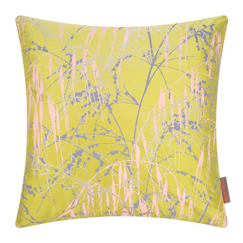 Three Grasses Cushion - 45x45cm - Quince/Soft Grey/Oyster/Gold