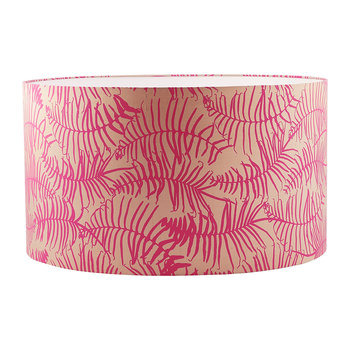 Feather Fern Lamp Shade - Pebble/Neon
