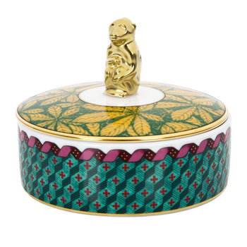 Totem Trinket Box with Monkey Lid