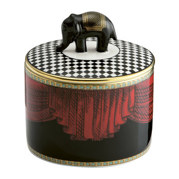 Totem Elephant Cylindrical Box with Lid