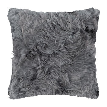 Alpaca Fur Cushion - 40x40cm - Steel Grey