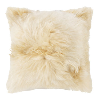 Alpaca Fur Cushion - 40x40cm - Champagne