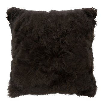 Alpaca Fur Cushion - 40x40cm - Espresso/Nutmeg