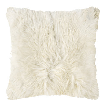 Alpaca Fur Cushion - 40x40cm - Ivory