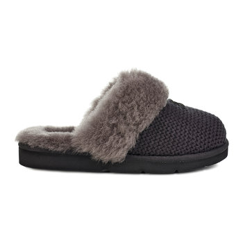 Women's Cozy Knit Slippers - Black