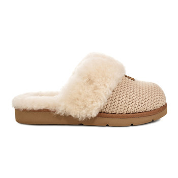 Women's Cozy Knit Slippers - Cream