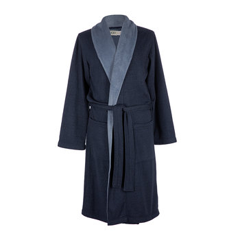 Men's Robinson Bathrobe - Navy Heather