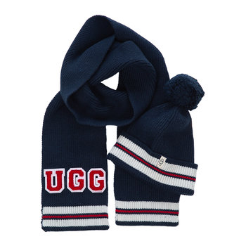 Boys Varsity Knit Set - Hat & Scarf - Navy