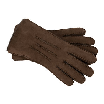 Men's Sheepskin 3 Point Gloves - Chocolate